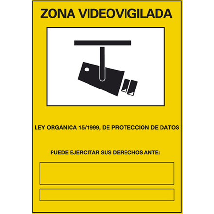 Cartel zona video vigilada
