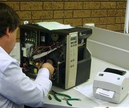 Mantenimiento de impresoras de etiquetas y codigos de barras